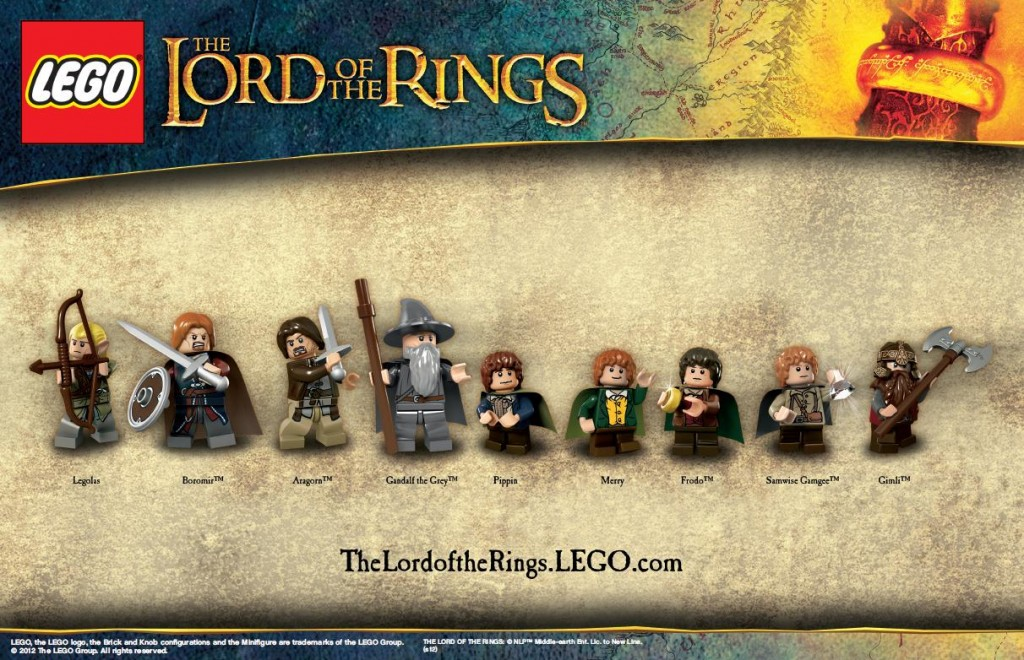 LEGO LOTR Minifigs - The Fellowship