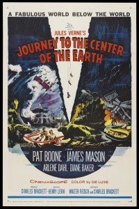 "1959 movie poster for ""Journey To The Centre Of The Earth"""