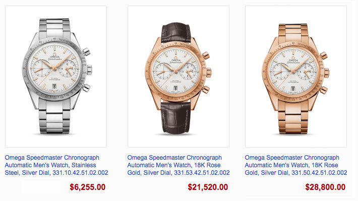 Omega Speedmaster 75 Prices