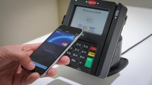 Apple Pay point-of-sale terminal in use