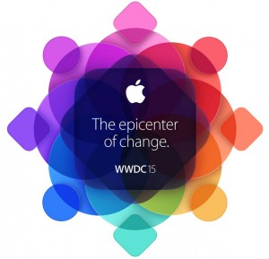 WWDC 2015 logo featuring s silhouette of the AppleTV