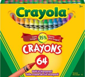 A box of 64 Crayola crayons